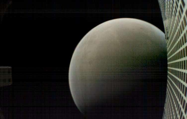 La planète Mars vue par le satellite MarCO-B (NASA/JPL-Caltech)
