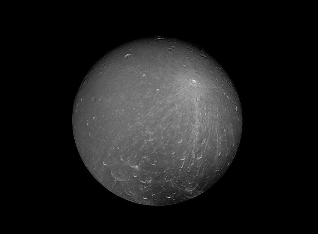 Dioné Crédit : NASA/JPL-Caltech/Space Science Institute