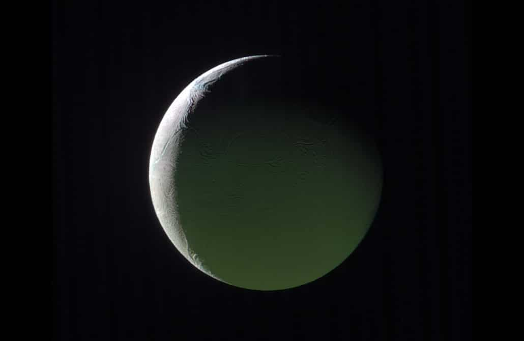 Encelade Crédit : NASA/JPL-Caltech/Space Science Institute