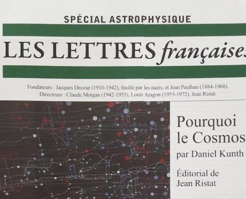 LES LETTRES françaises - Spécial Astrophysique