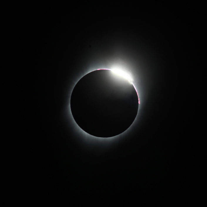 Éclipse 21 août 2017 - JP Maratray - diamant troisième contact Activités adhérents