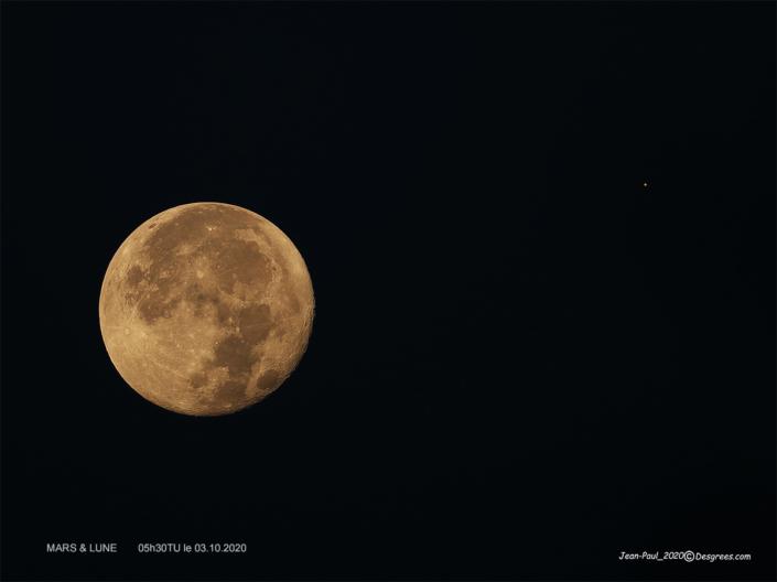 Mars et la Lune